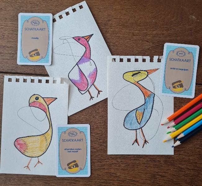 vogeltje-schatkaart